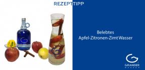 Belebtes Apfel-Zitronen-Zimt-Wasser